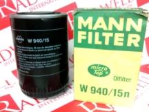 MANN FILTER W940/15N
