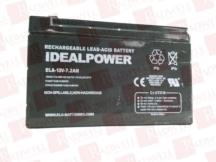 IDEAL POWER CONVERTERS ELA-12V-7.2AH