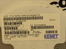 KEMET C1206C221K5GACTU