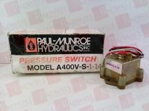 PAUL MUNROE HYDRAULICS INC A400V-S-1-14