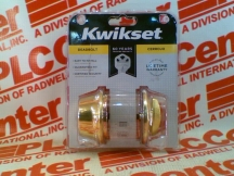 KWIKSET CORPORATION 660-3-CP-PB