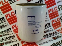 MARION FILTER S-58