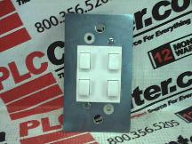TOUCH PLATE LIGHTING CNTRLS CLA-4B-0L-WHT