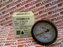 BOSHART INDUSTRIES PG15CBM-0-30