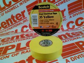 3M TAPE DIVISION 35-YELLOW-3/4