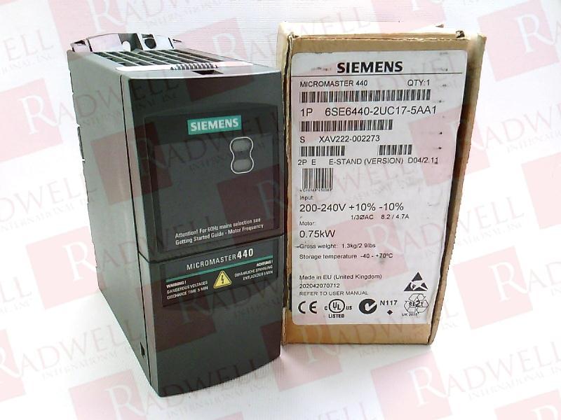 SIEMENS 6SE6-440-2UC17-5AA1