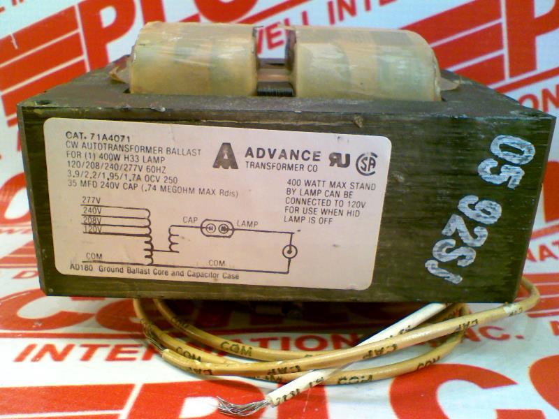 ADVANCE BALLAST 71A4071