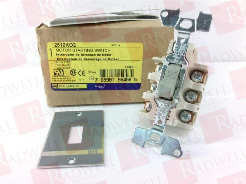 NEW IN BOX SQUARE D SWITCH 2510KO-2