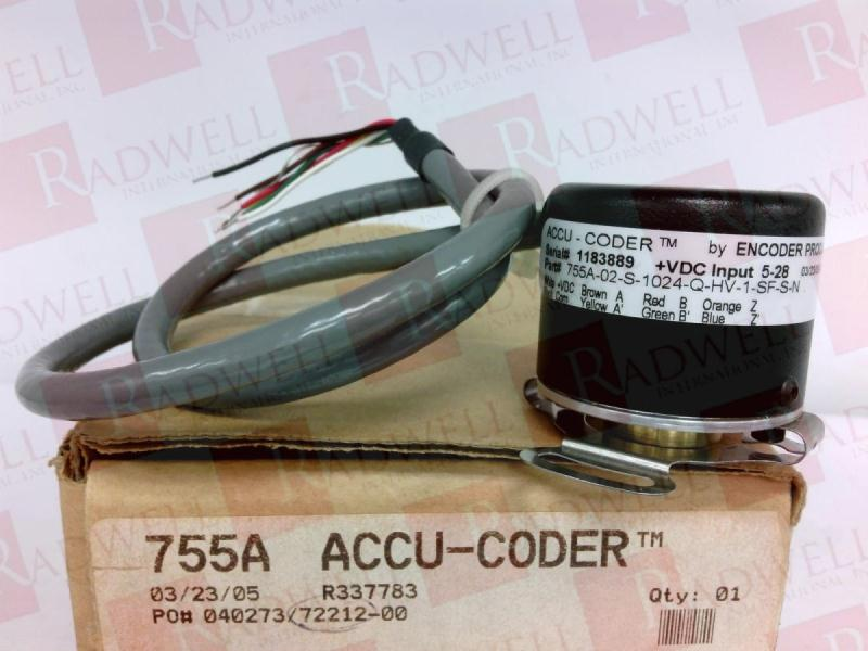 ACCU CODER 755A-02-S-1024-Q-HV-1-SF-S-N