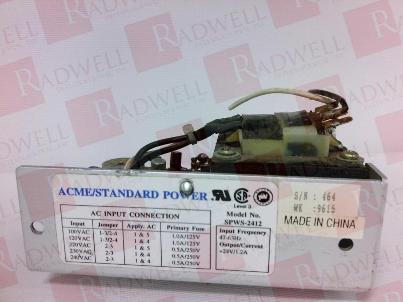 ACME ELECTRIC SPWS-2412