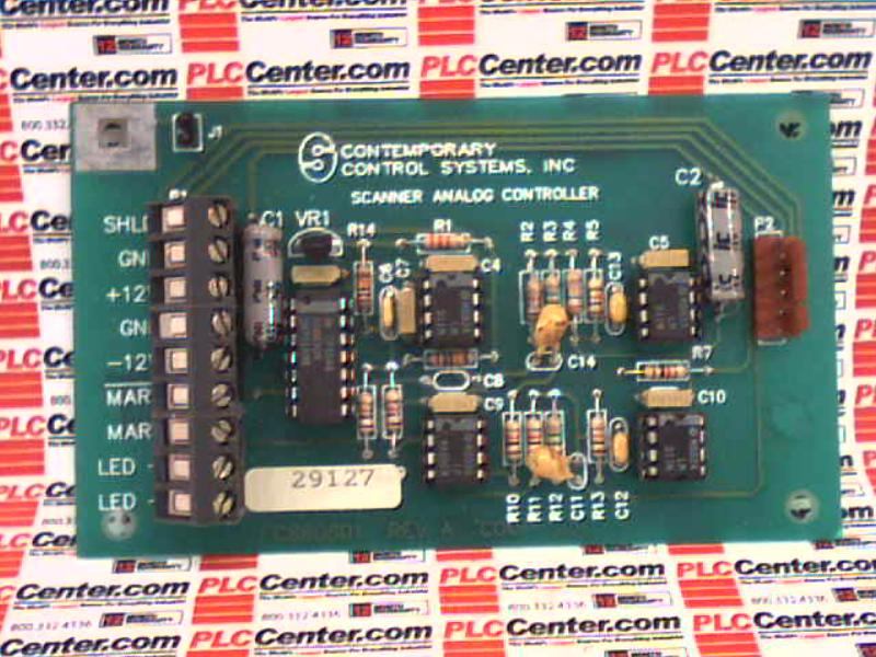 CONTEMPORARY CONTROL SYSTEMS PC860801