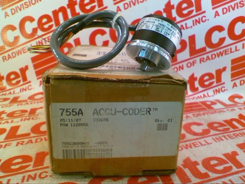 ACCU CODER 755A-07-S-3600-R-HV-1-S-S-N
