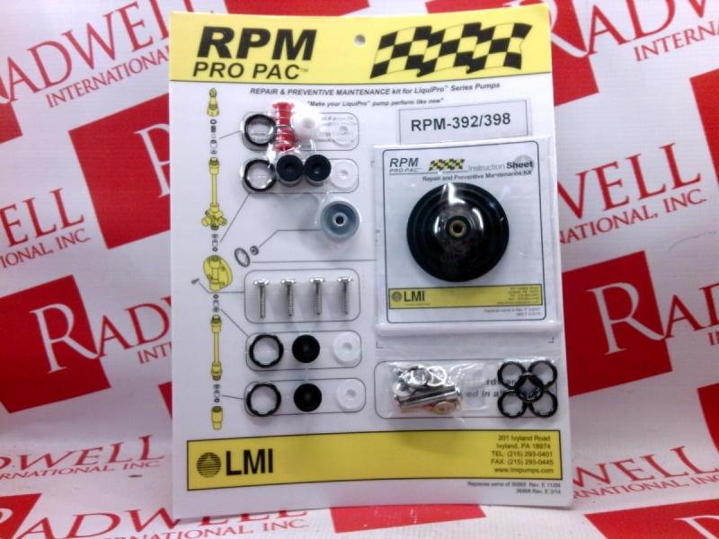 ACCUDYNE INDUSTRIES RPM-392/398
