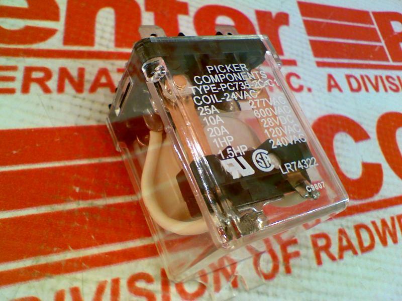 PICKER COMPONENTS PC735-2C-C1-24VAC