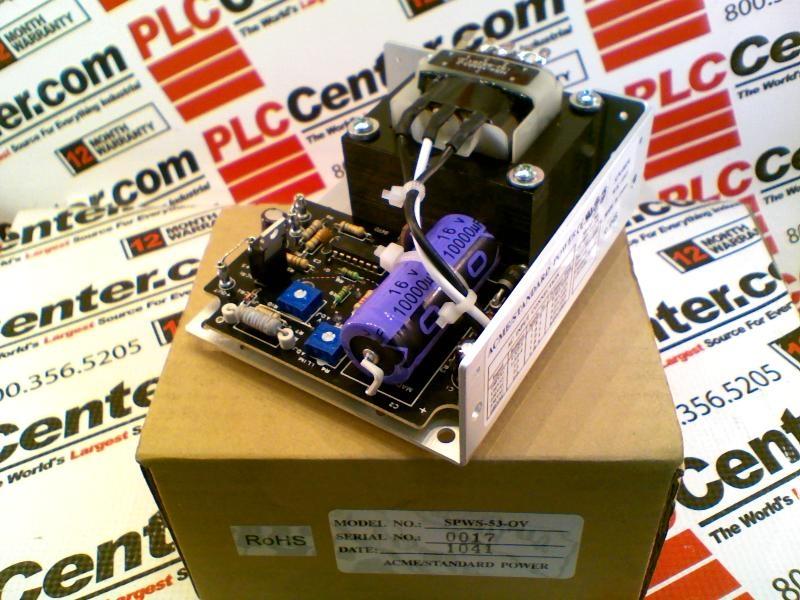 ACME ELECTRIC SPWS-53-OV