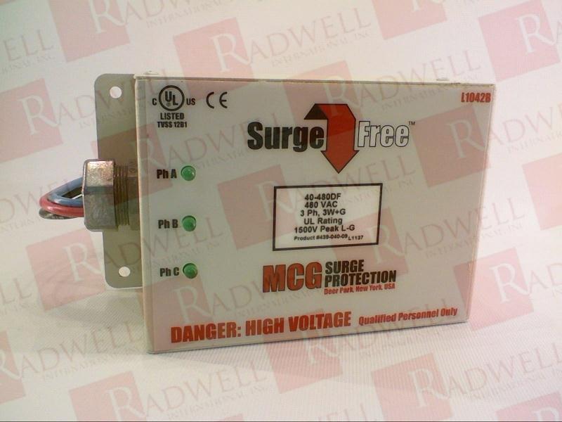 MCG INC 40-480DF