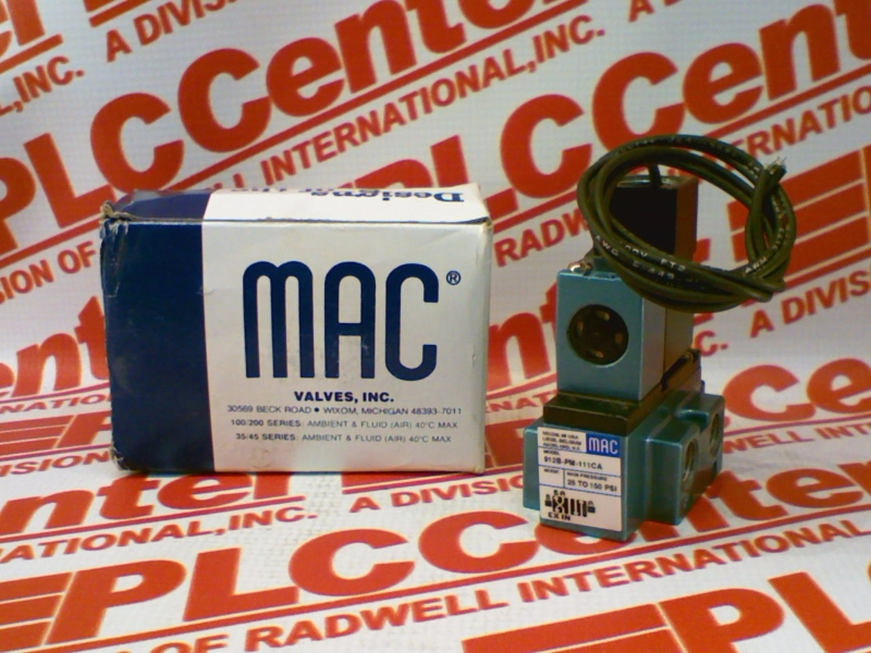 MAC VALVES INC 912B-PM-111CA