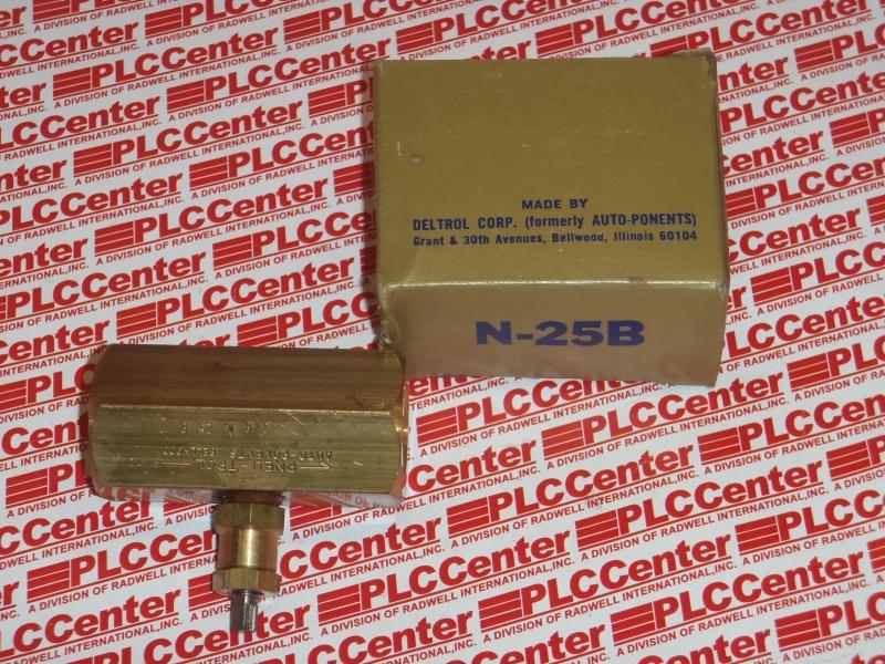 DELTROL CORP VALVES N-25-B