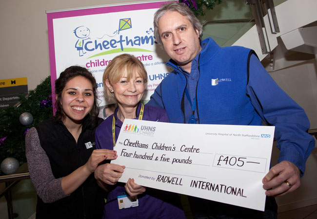 Our UK branch donated over &#163;400 to the Cheethams Childrens Center to help with the Holiday Season.