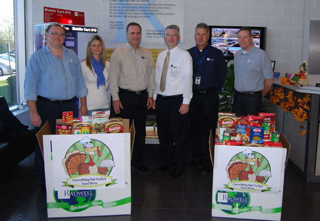 With the 2012 food drive, we were able to help even more families as more people donated food.