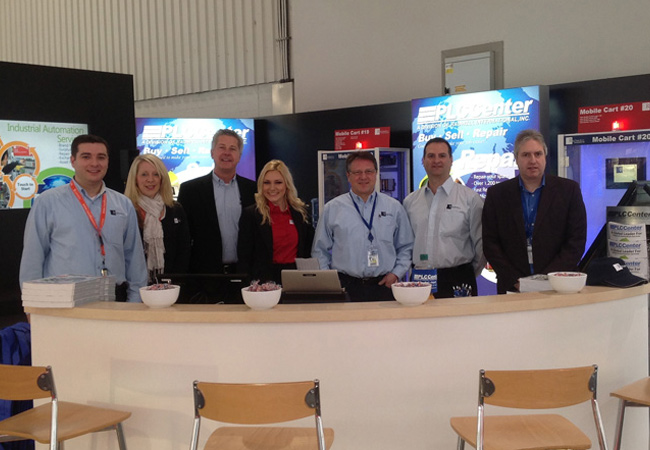 Our team in Hannover, Germany in our new trade show booth.