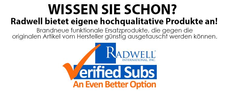 WISSEN SIE SCHON? Radwell bietet eigene hochqualitative Produkte an!  Brandneue funktionale Ersatzprodukte, die  gegen die originalen Artikel vom Hersteller günstig ausgetauscht werden können.