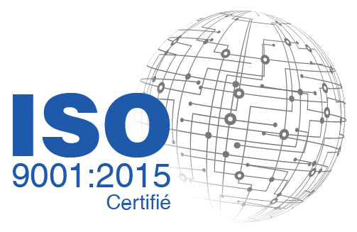 Certifié ISO 9001 : 2015 logo