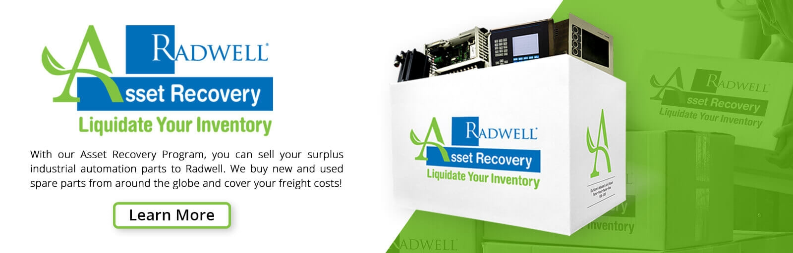 We buy new and used spare parts from around the globe and cover your freight costs!