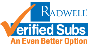 RADWELL VERIFIED SUBSTITUTE Logo