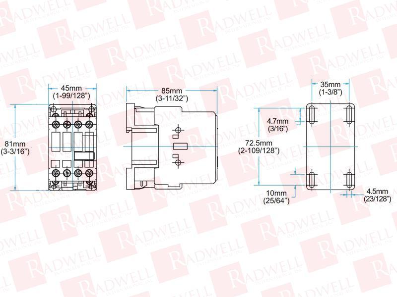 RADWELL VERIFIED SUBSTITUTE XTCE025C10A-SUB (SM-AUX)