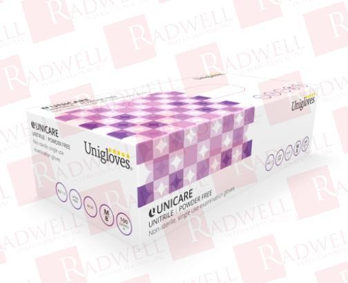 UNIGLOVES BLUE UNITRILE GLOVES- MEDIUM- NITRILE/VINYL HYBRID - 100 PACK
