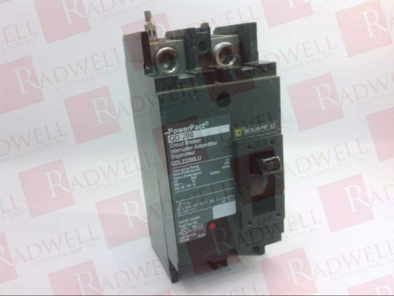 Square D PowerPact QD200 QDL22200LU Circuit Breaker
