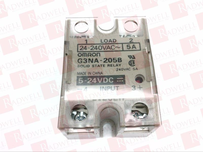 Solid State Relay,5 to 24VDC,5A OMRON G3NA-205B-DC5-24