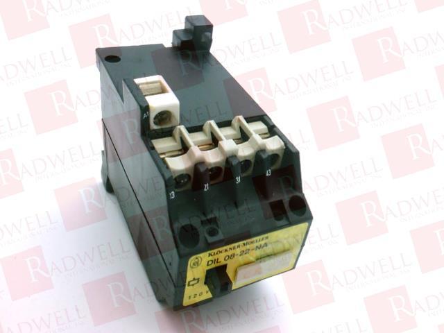 Klockner Moeller DIL 08-22-NA Contactor 115V 60Hz
