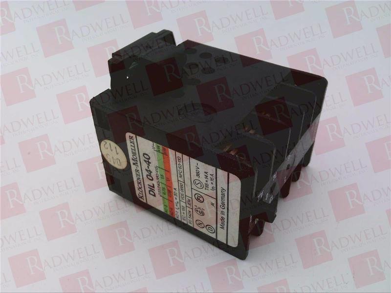 EATON CORPORATION DIL-04-40-110/120VAC-50-60HZ 1