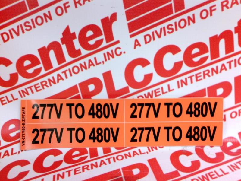 ZIPTAPE VM-277V TO 480V-B/EACH