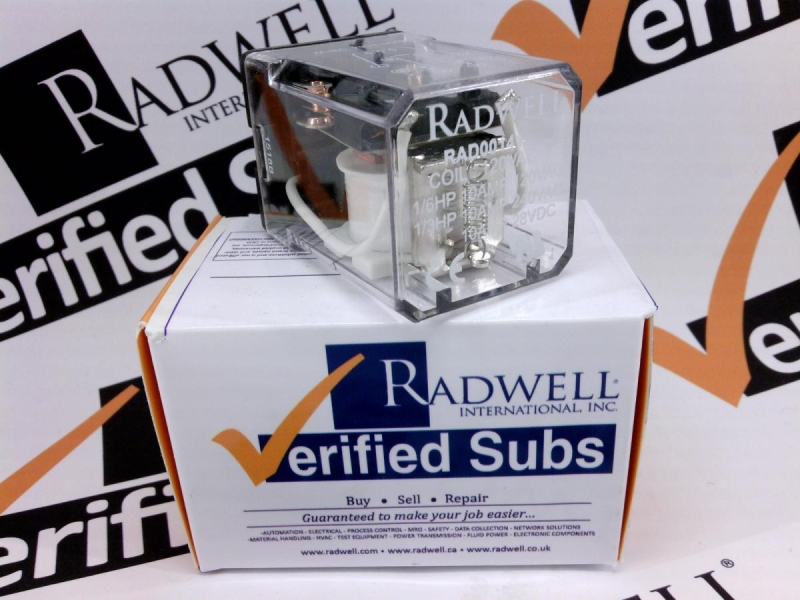 RADWELL VERIFIED SUBSTITUTE 105DPDT10A120VACSUB
