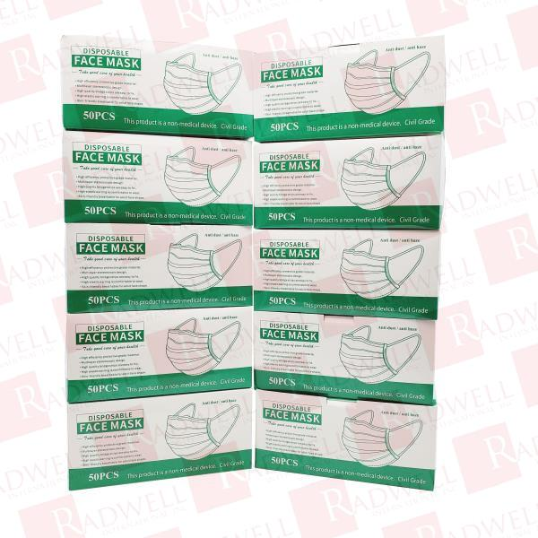 YIWU DISPOSABLE FACE MASK 10BOXES