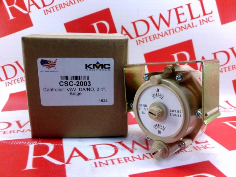 KMC CONTROLS CSC-2003 14.4 SCIM at 20 PSIG Reset Volume Controller VAV HVAC