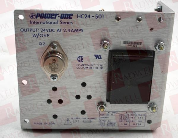POWER ONE HC24-500 Power Supply 2.4AMP 24VDC