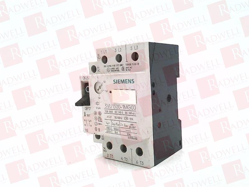 AC-3 SIEMENS 3VU1300-1MJ00 CIRCUIT BREAKER 50//60 HZ HP 3PH 600 VAC