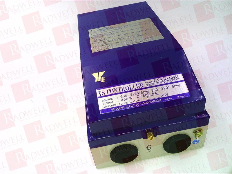 CVSR-404G by YASKAWA ELECTRIC - Buy or Repair at Radwell