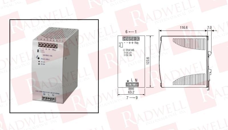 RADWELL VERIFIED SUBSTITUTE 1606-XLE120E-SUB