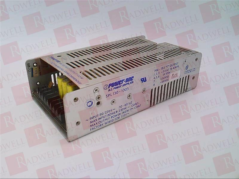 REPAIRED POWER ONE SPL130-1005 POWER SUPPLY SPL1301005