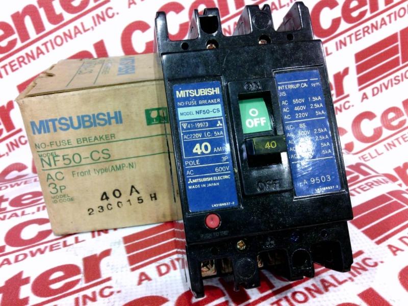 MITSUBISHI NF50-CS-3P-40A 1