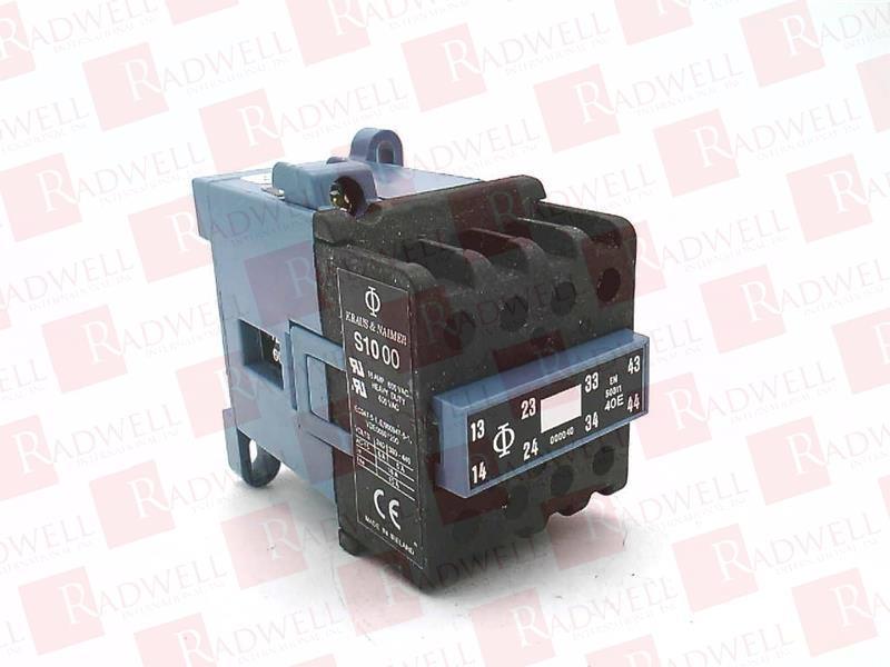 KRAUS /& NAIMER 120 VAC GENERAL PURPOSE CONTACTOR S1000 B120//0040  NEW RELAY