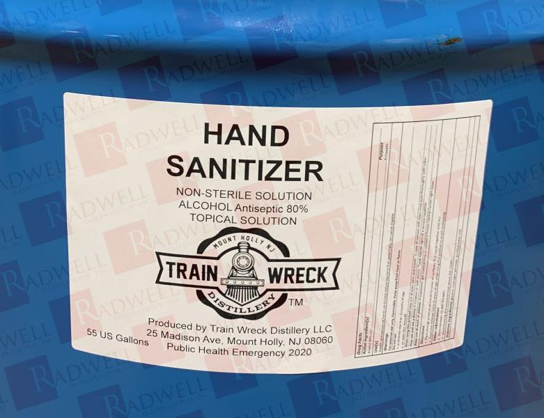 TRAIN WRECK DISTILLERY HAND SANITIZER 55 GALLON