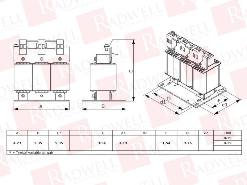 RADWELL VERIFIED SUBSTITUTE RL-00804-SUB