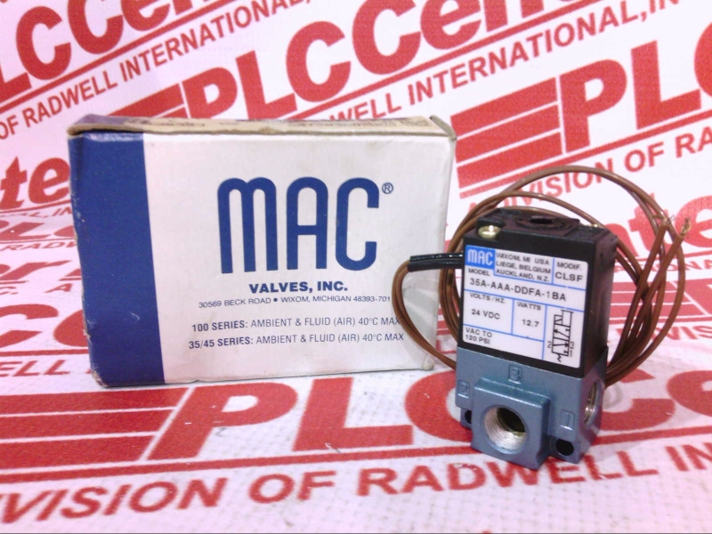 MAC VALVES INC 35A-AAA-DDFA-1BA 1