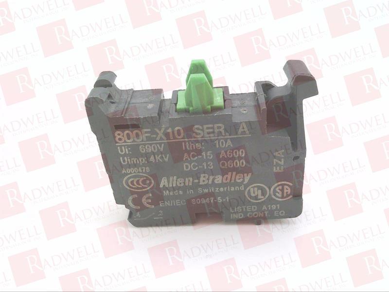 ALLEN BRADLEY 800F-X10 0